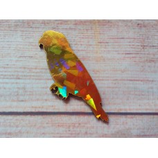 Gold Foiled  MDF Parrot 75mm